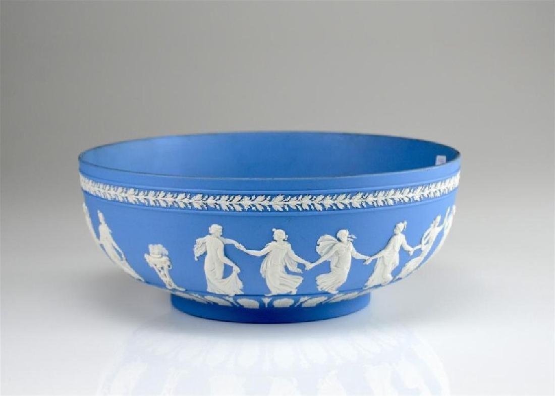 Wedgwood blue Jasperware Dancing Hours center bowl