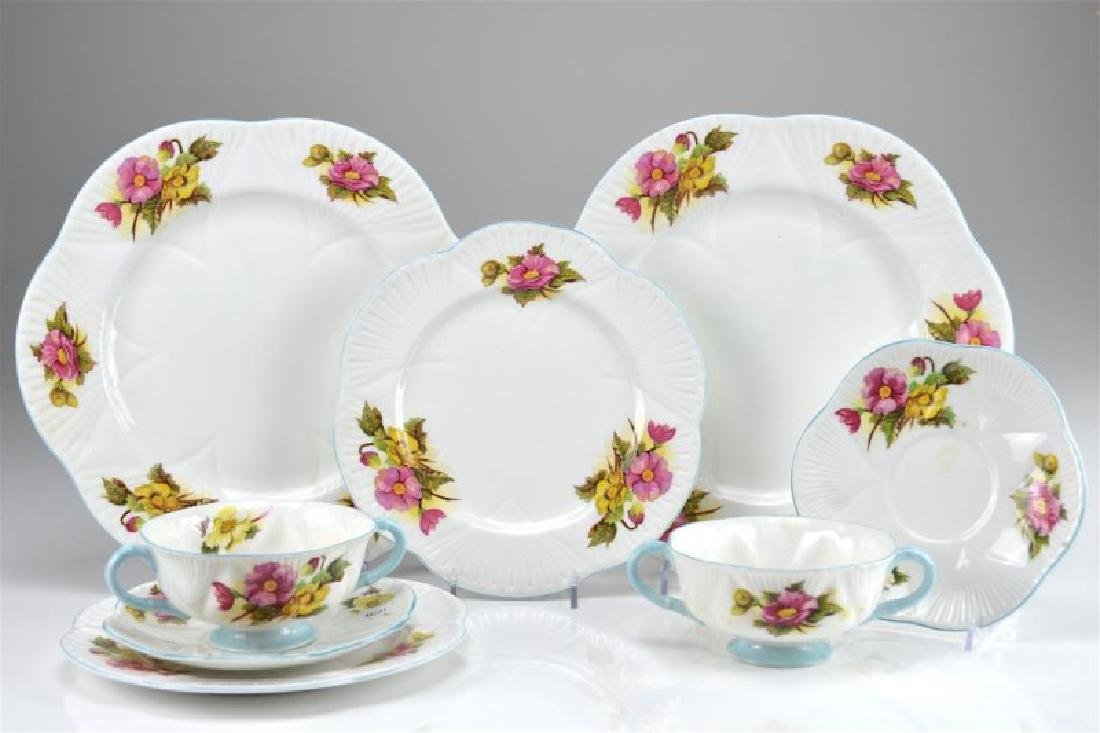 Thirty-six pieces of Shelly Begonia dinnerware