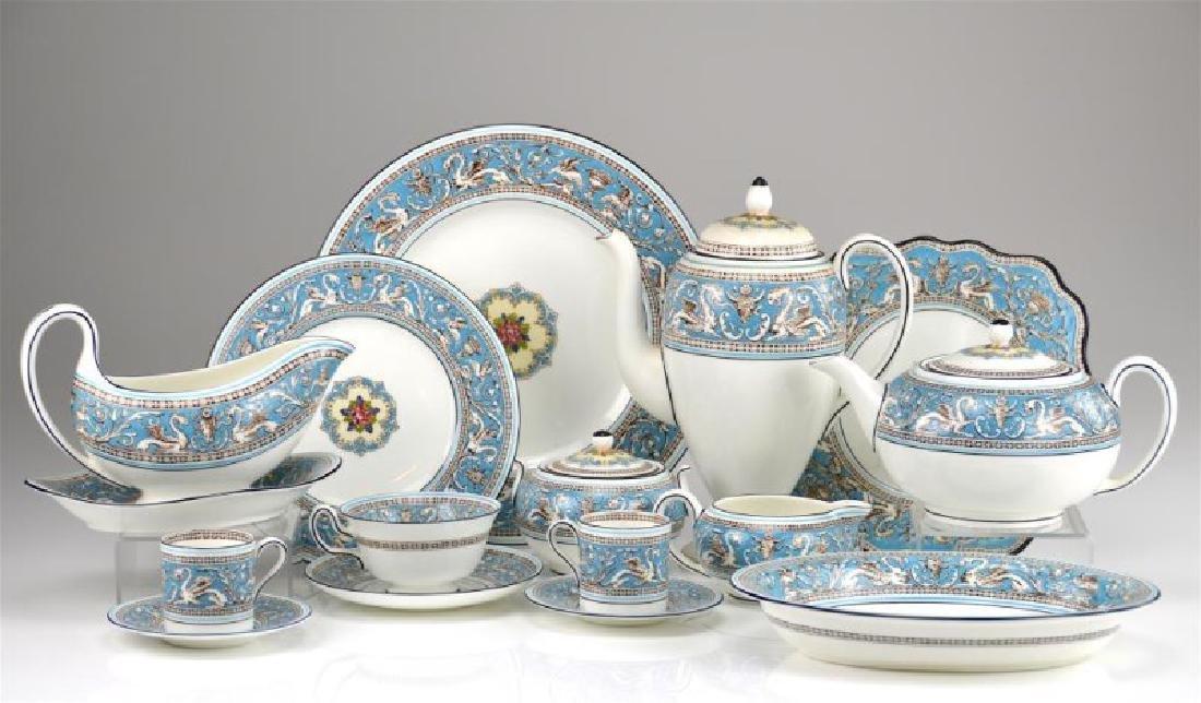 106 pcs Wedgwood Turquoise Florentine dinnerware