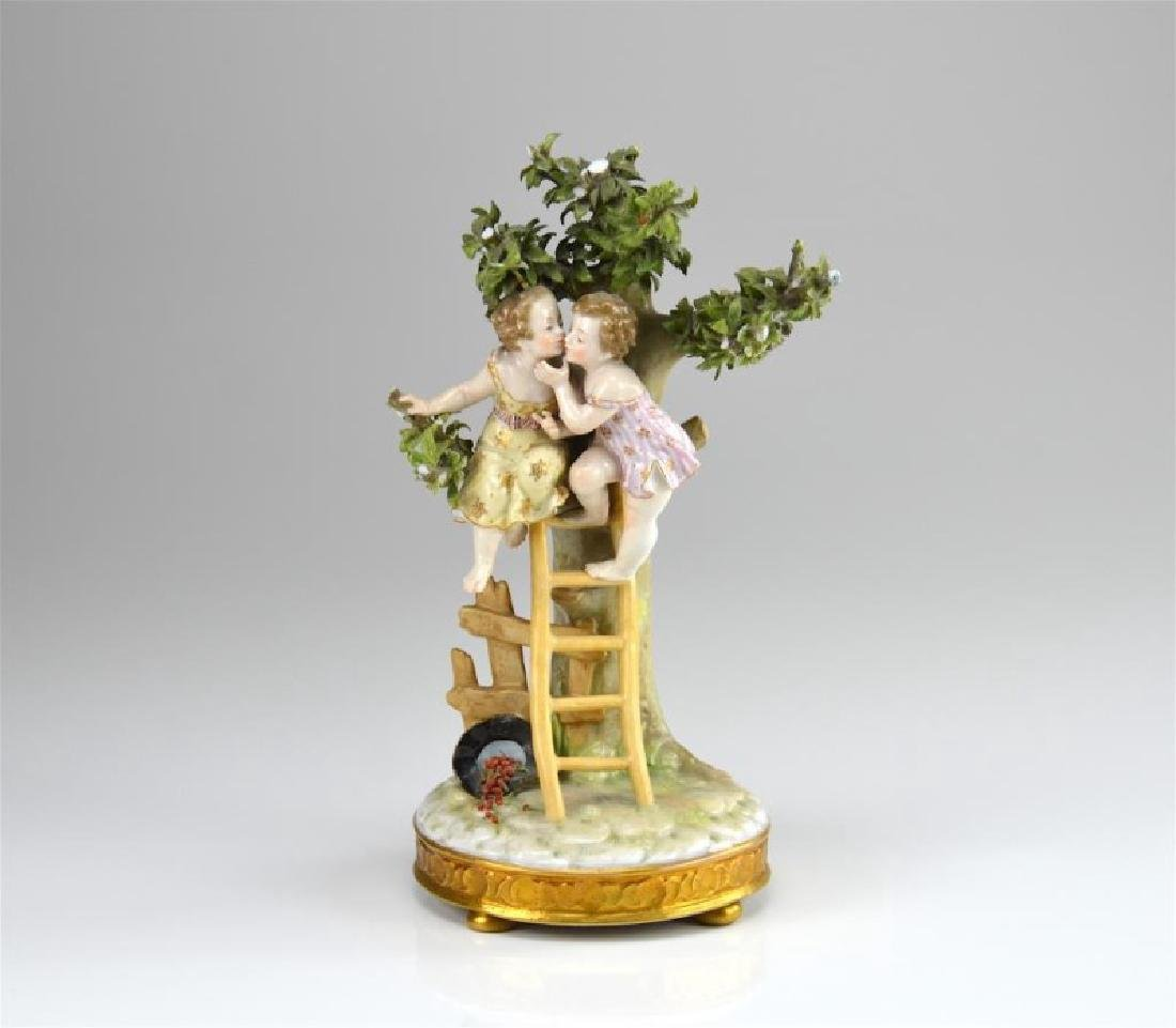 French 19th C porcelain figural group