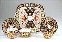 Four pieces of Royal Crown Derby Imari porcelain
