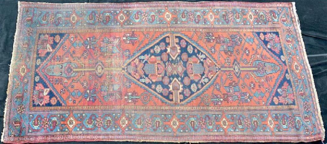 Caucasian semi antique geometric rug