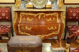 Fine French fruitwood commode wormolu mounts