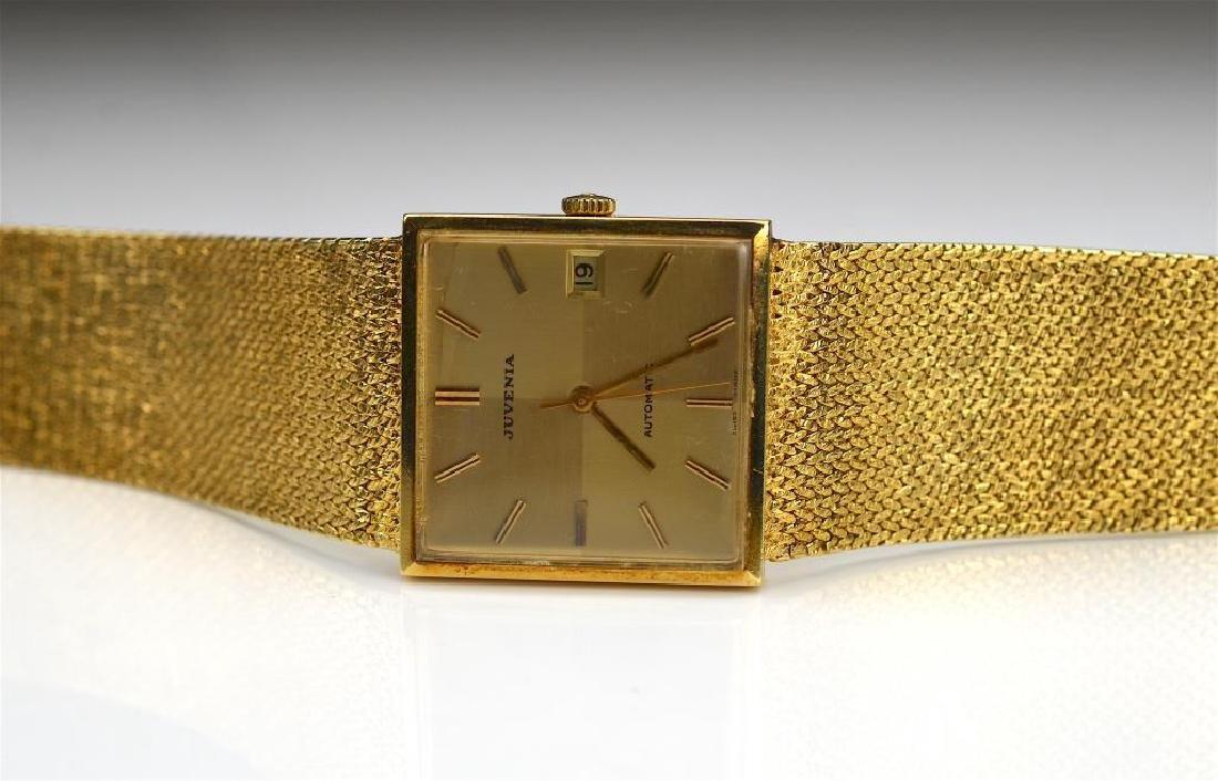 Juvenia men's 18k yellow gold wristwatch