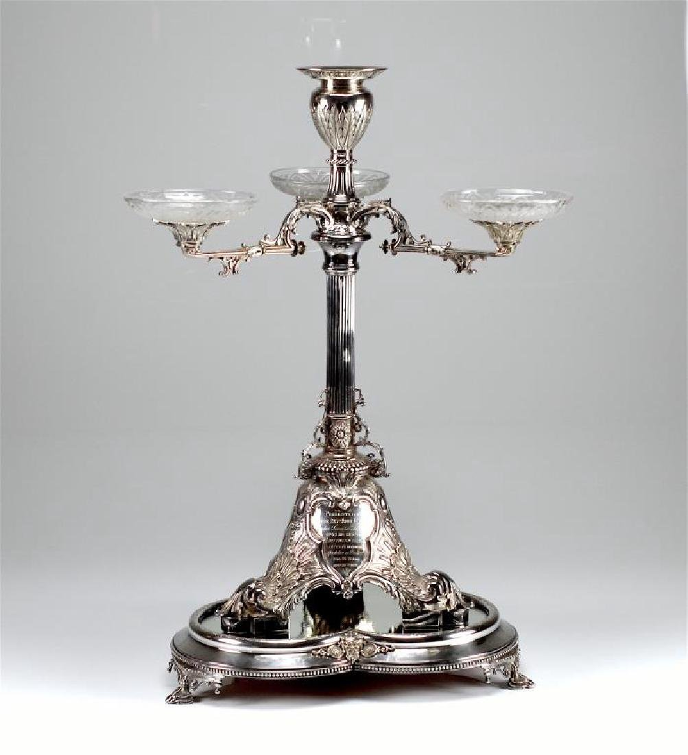 Victorian English silver epergne centrepiece