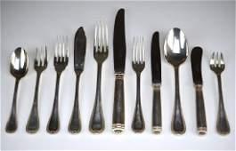 81 pcs Christofle Malmaison silver plate flatware