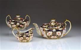 Three piece Royal Crown Derby Imari 2451 tea set