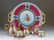 Austrian porcelain tete a tete coffee service