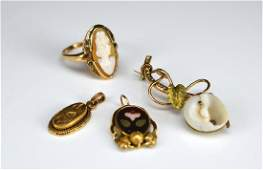 Lot of Victorian gold and goldfilled jewellery