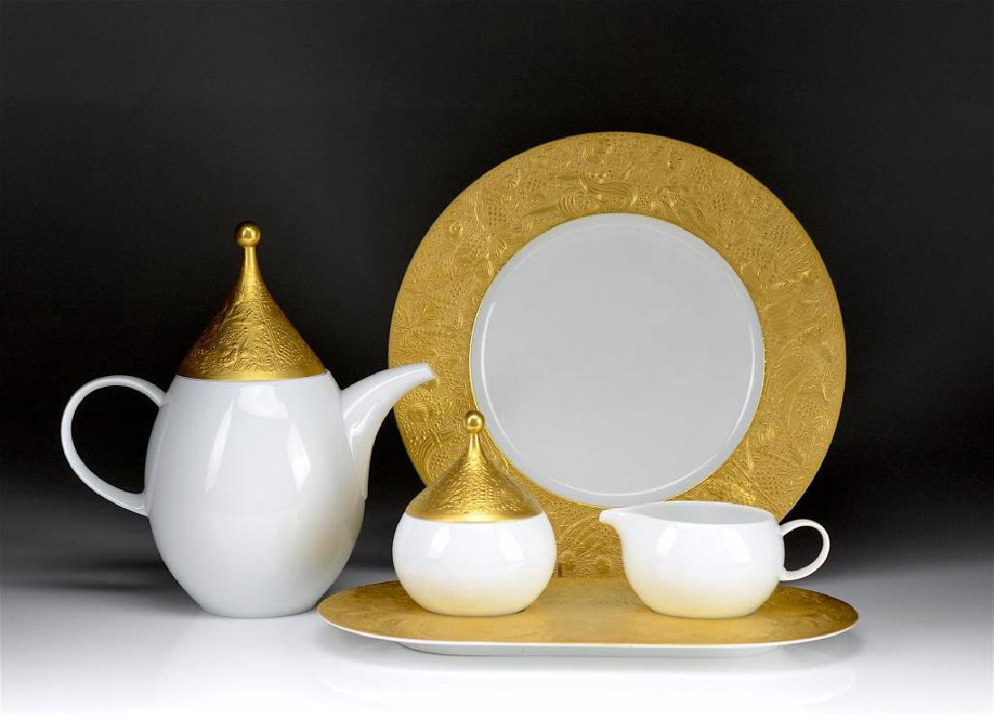 FIVE PIECES OF ROSENTHAL MAGIC FLUTE PORCELAIN