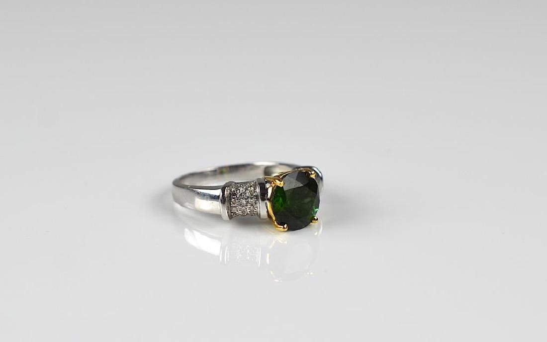 Gold, diamond, and tourmaline ring - 2