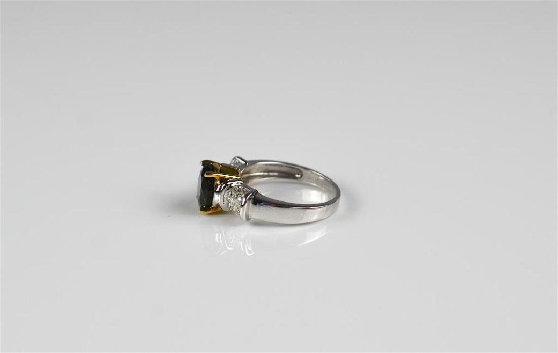Gold, diamond, and tourmaline ring - 3