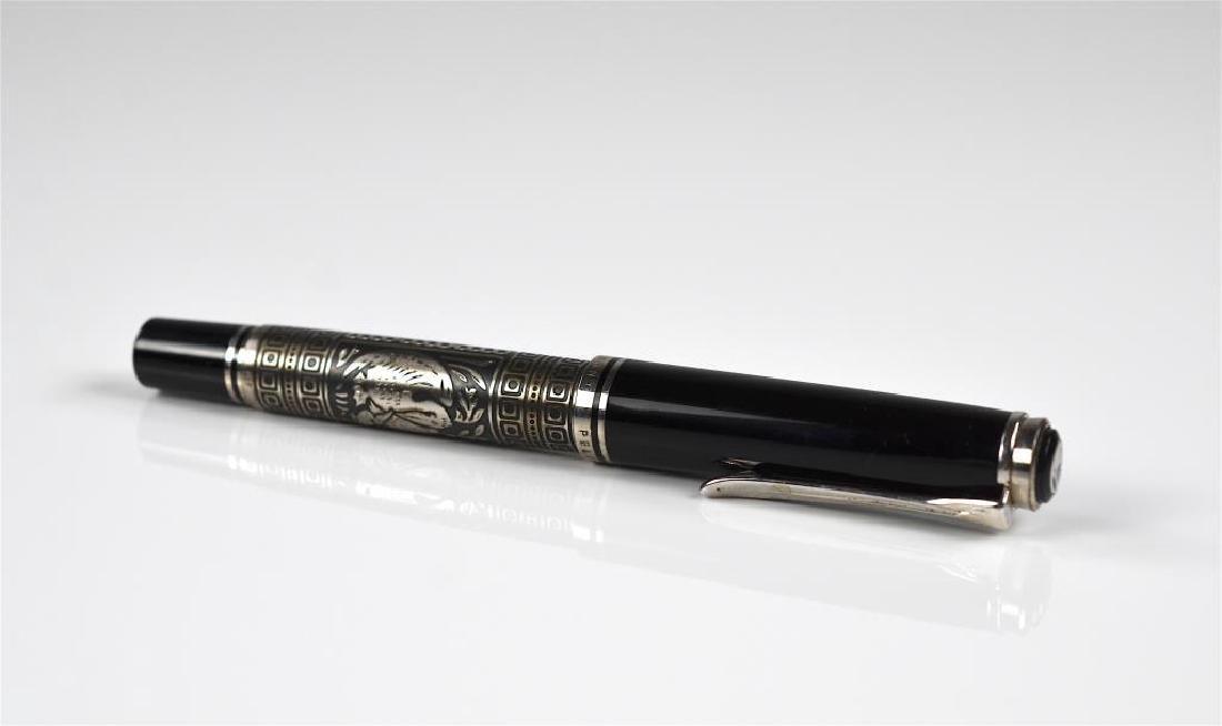 Pelikan silver mounted fountain pen