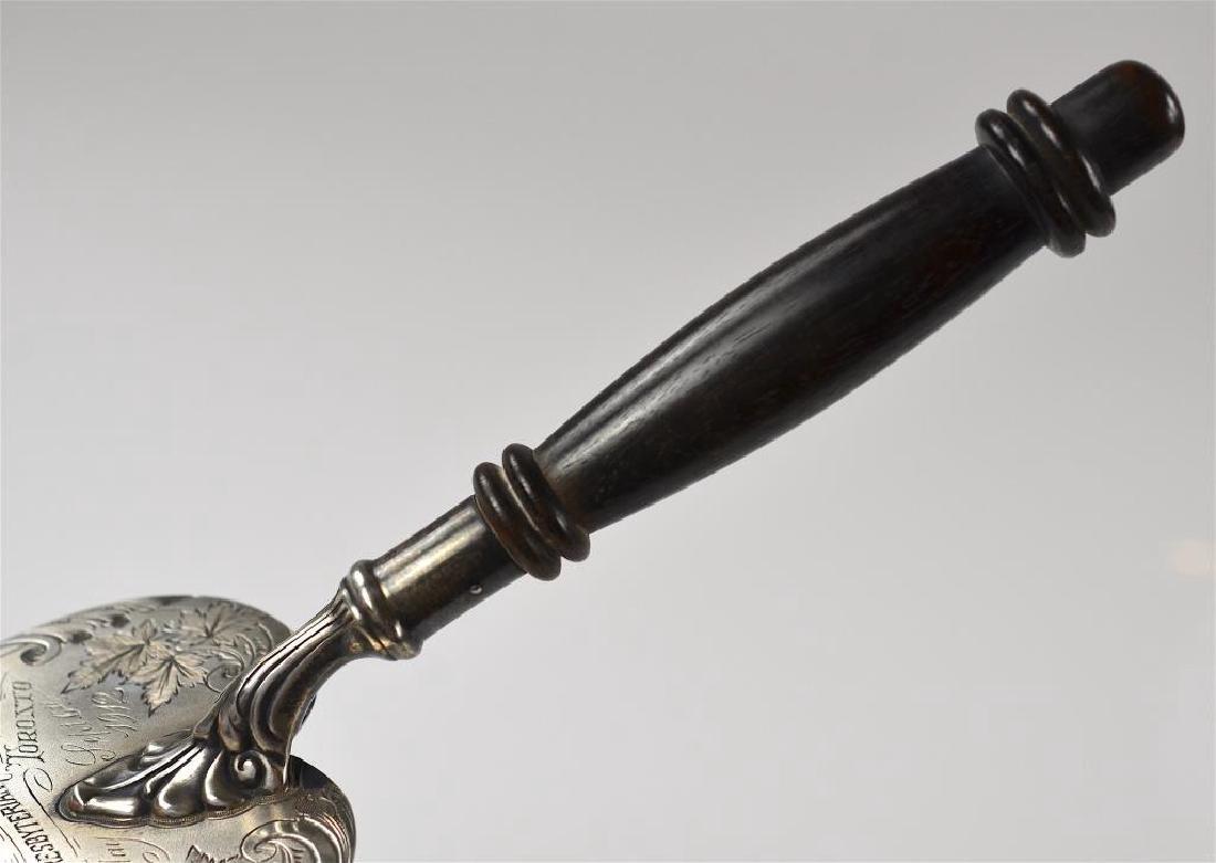 Canadian silver presentation trowel - 4