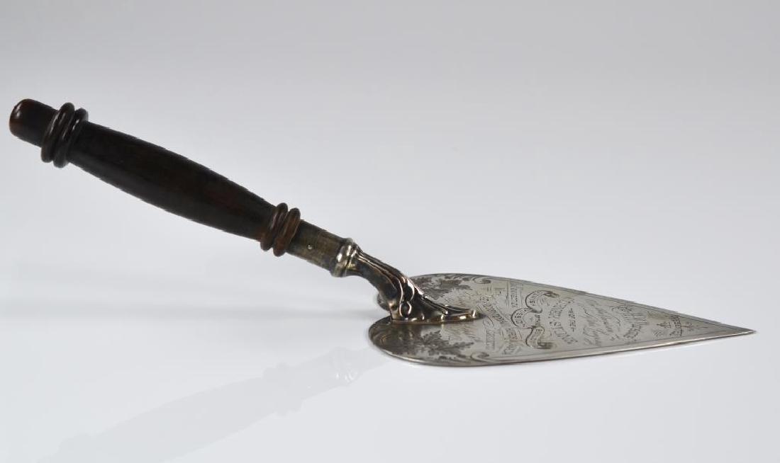Canadian silver presentation trowel - 5