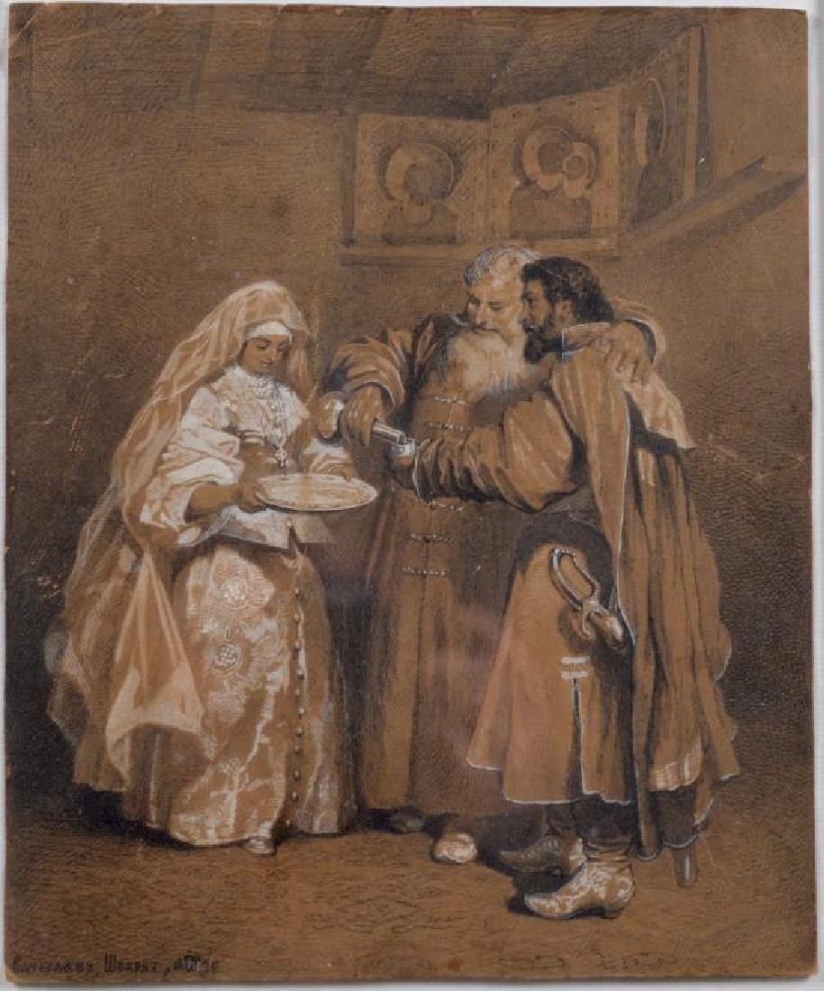 VYACHESLAV GRIGOREVICH SCHWARZ (Russian,1838-1869)