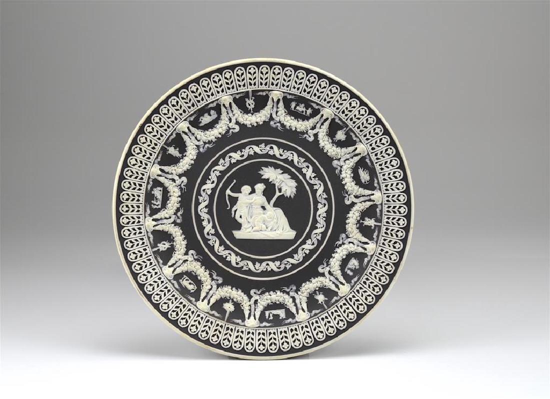 Wedgwood black basalt Jasperware trophy plate