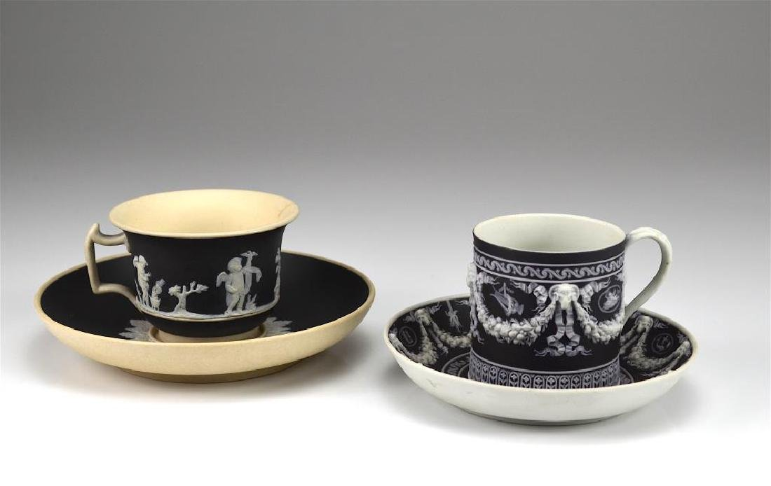 Wedgwood Jasperware cup and saucer w/ another
