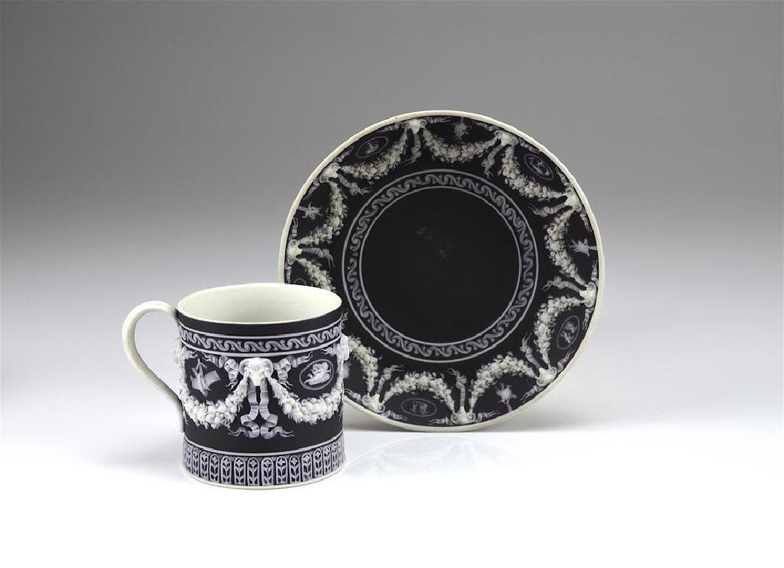 Wedgwood Jasperware cup and saucer w/ another - 3