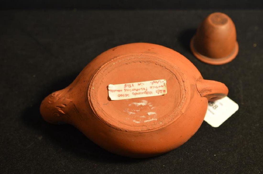 Wedgwood terracotta Jasperware ink well - 2