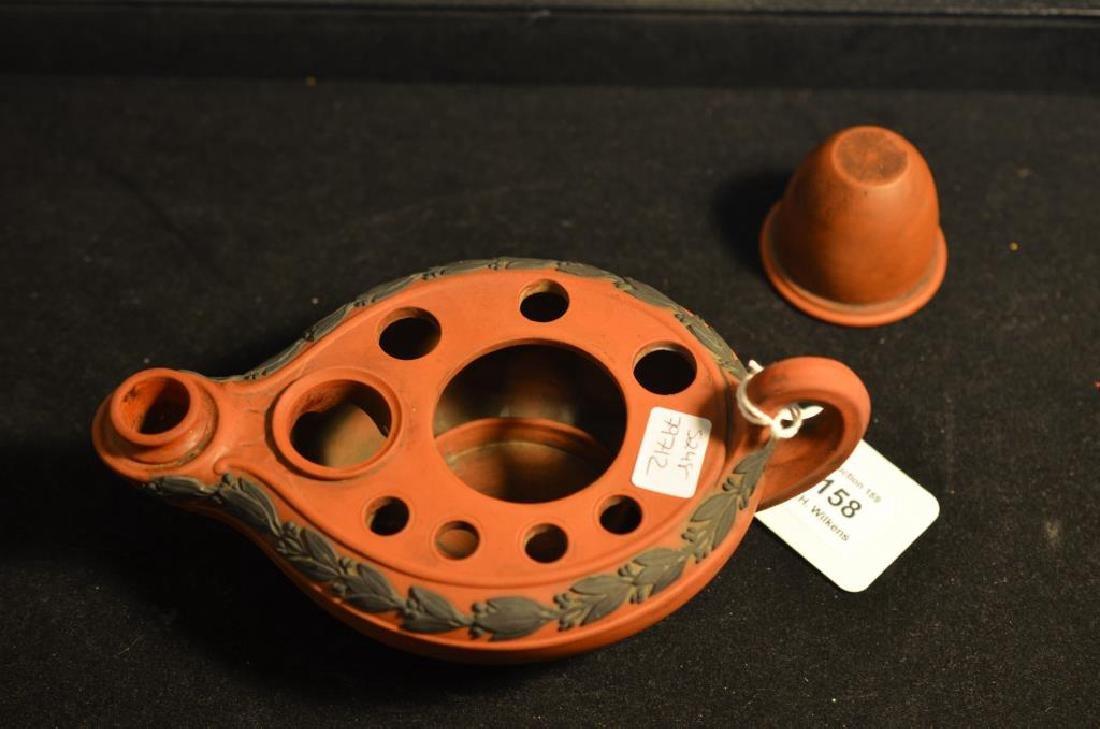 Wedgwood terracotta Jasperware ink well - 4