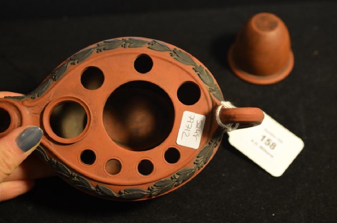 Wedgwood terracotta Jasperware ink well - 5