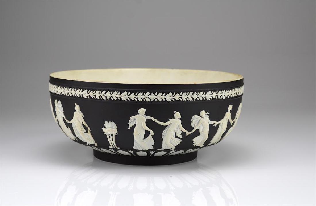 Wedgwood black basalt Jasperware center bowl