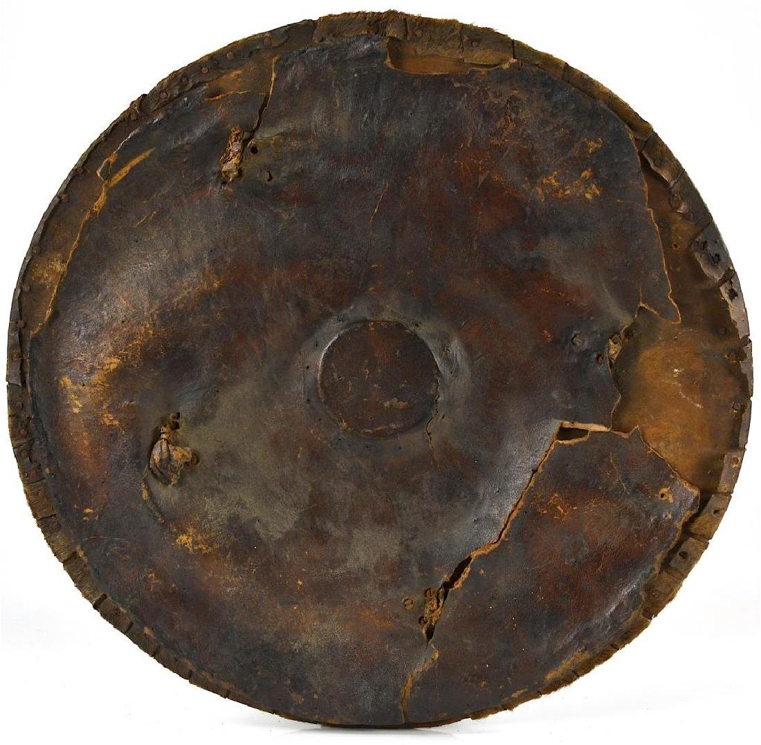 Early hide covered studded shield - 5