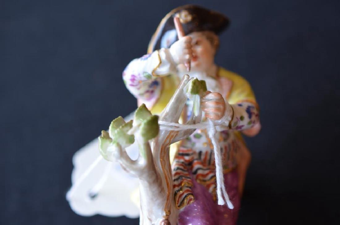 Pair of Meissen German porcelain figures - 5