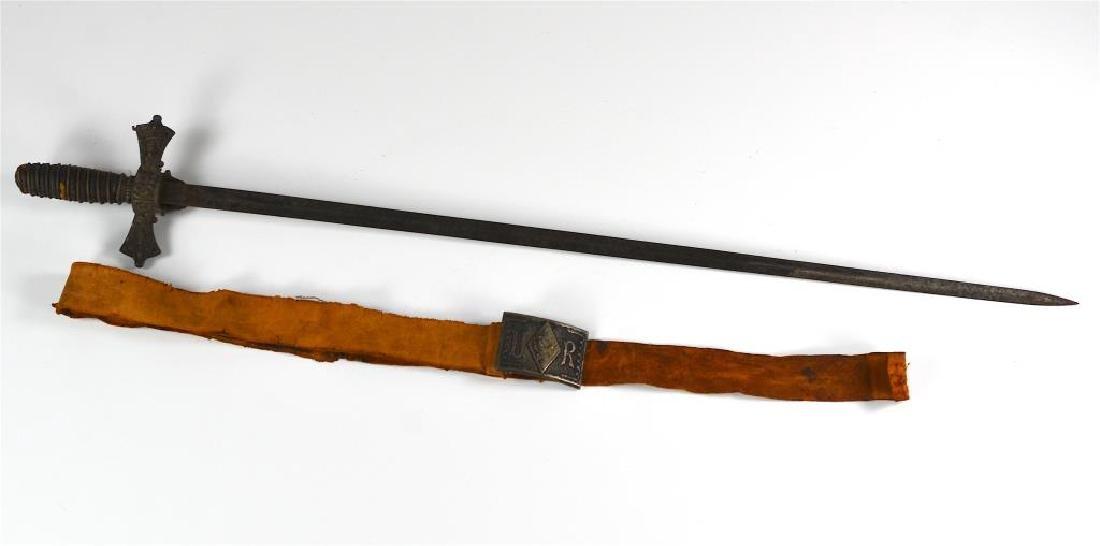 American Masonic sword and belt