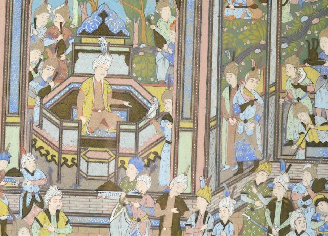 Framed Persian manuscript page - 4
