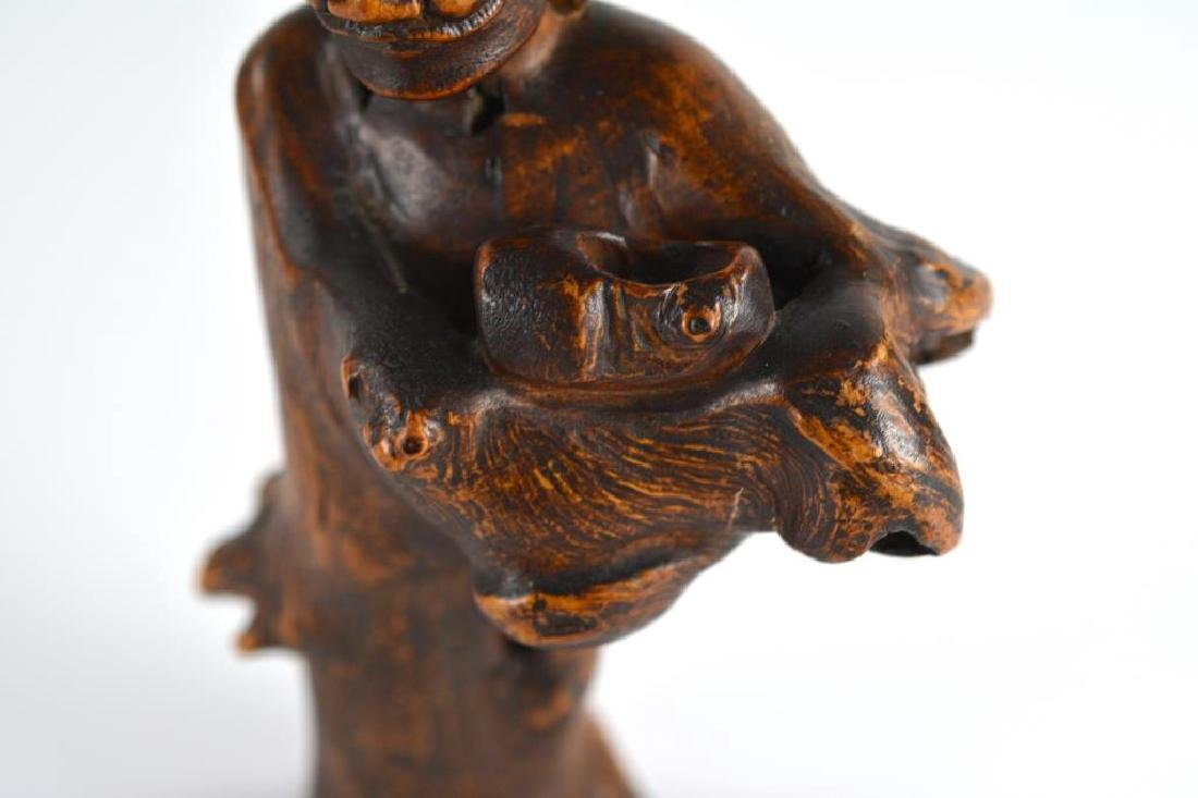 CHINESE ROOT WOOD CARVED STANDING FIGURE - 4