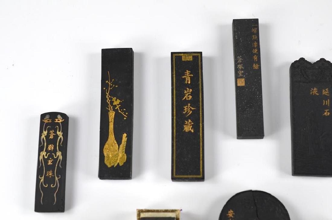 FIFTEEN CHINESE HUIZHOU HU KAIWEN INK STICKS - 2