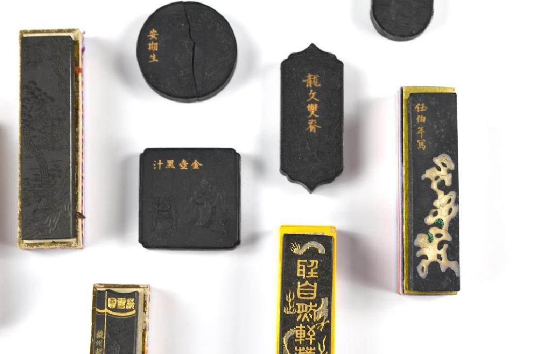 FIFTEEN CHINESE HUIZHOU HU KAIWEN INK STICKS - 3