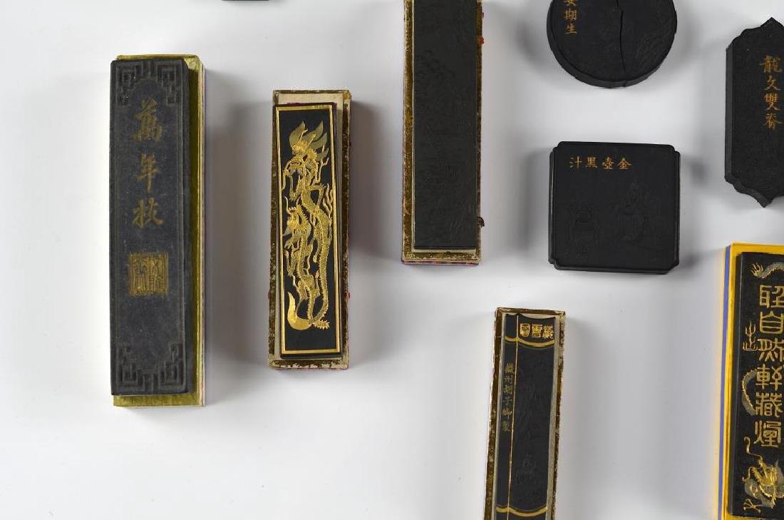 FIFTEEN CHINESE HUIZHOU HU KAIWEN INK STICKS - 4