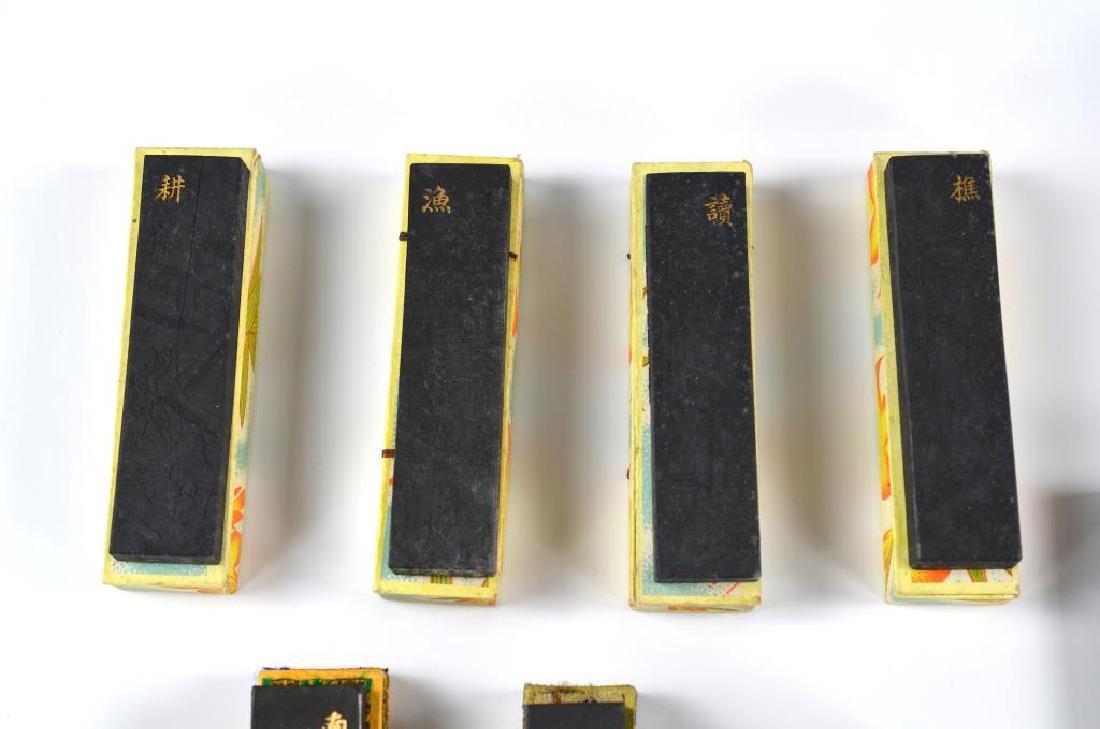FIFTEEN CHINESE HUIZHOU CAO SUGONG INK STICKS - 2