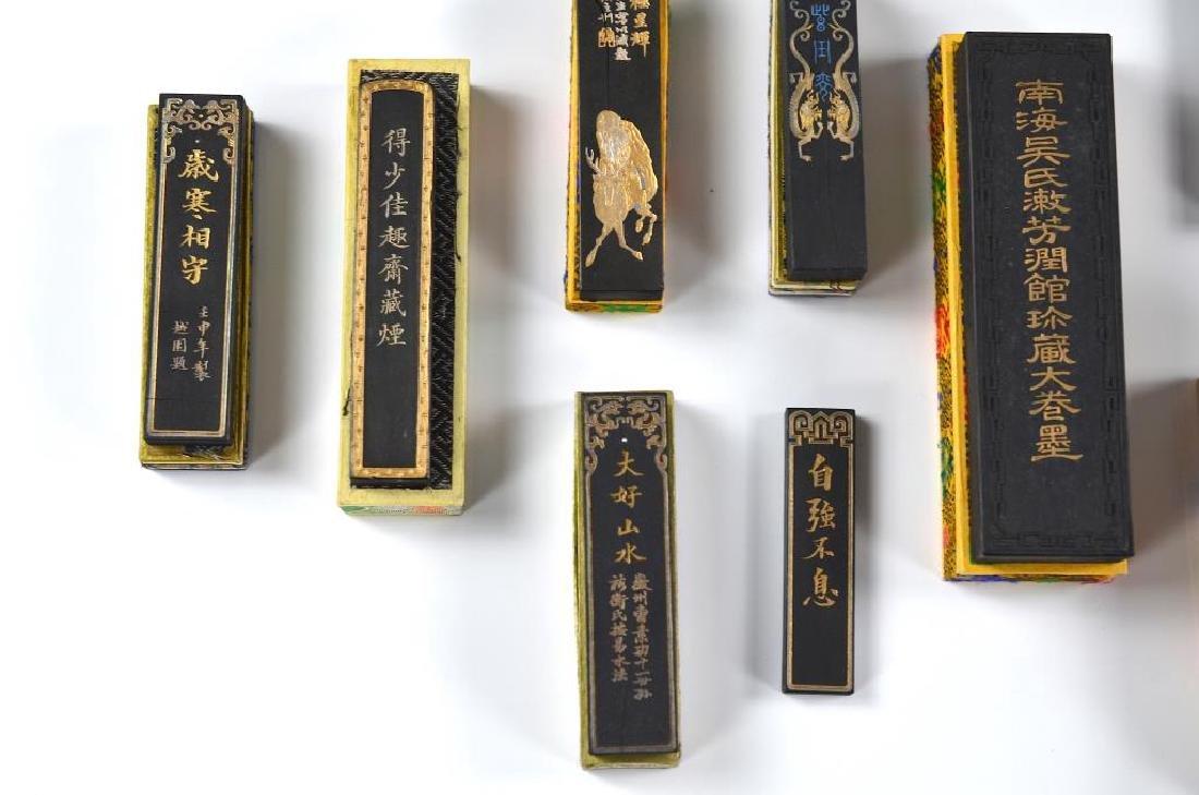 FIFTEEN CHINESE HUIZHOU CAO SUGONG INK STICKS - 3