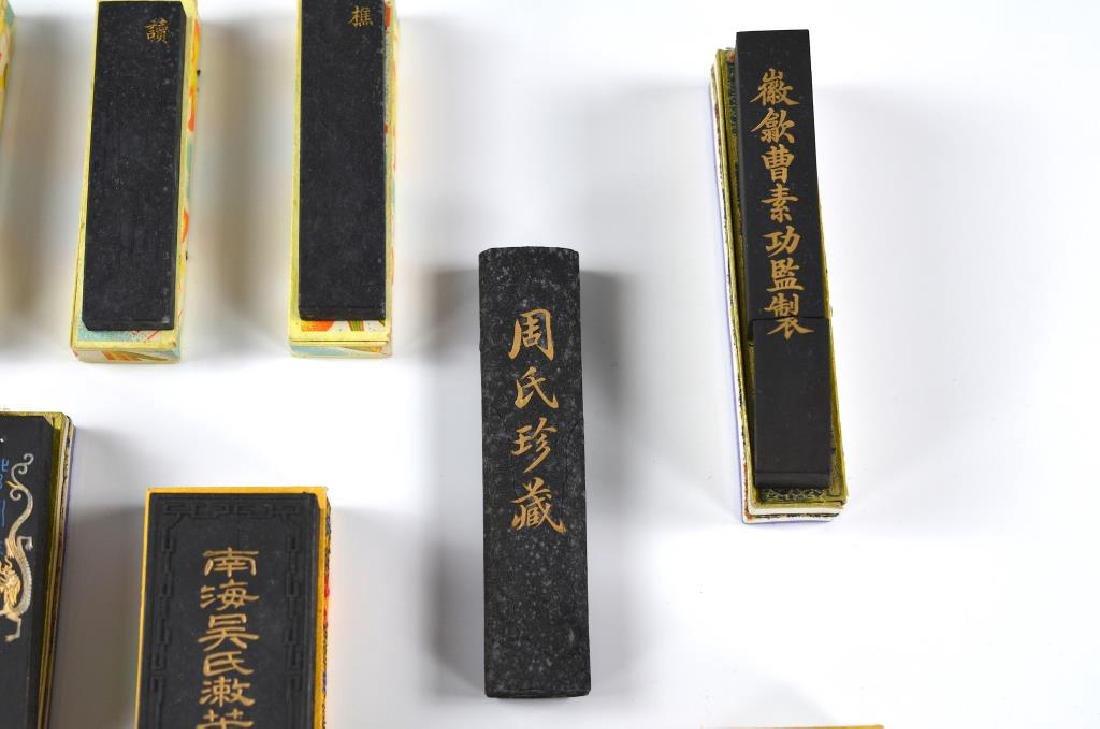 FIFTEEN CHINESE HUIZHOU CAO SUGONG INK STICKS - 4