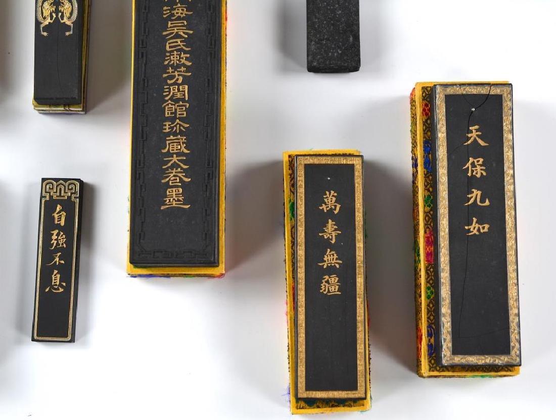 FIFTEEN CHINESE HUIZHOU CAO SUGONG INK STICKS - 5