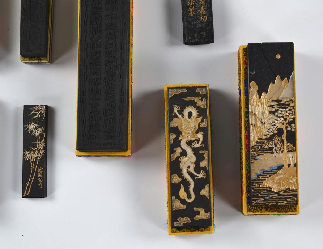 FIFTEEN CHINESE HUIZHOU CAO SUGONG INK STICKS - 9