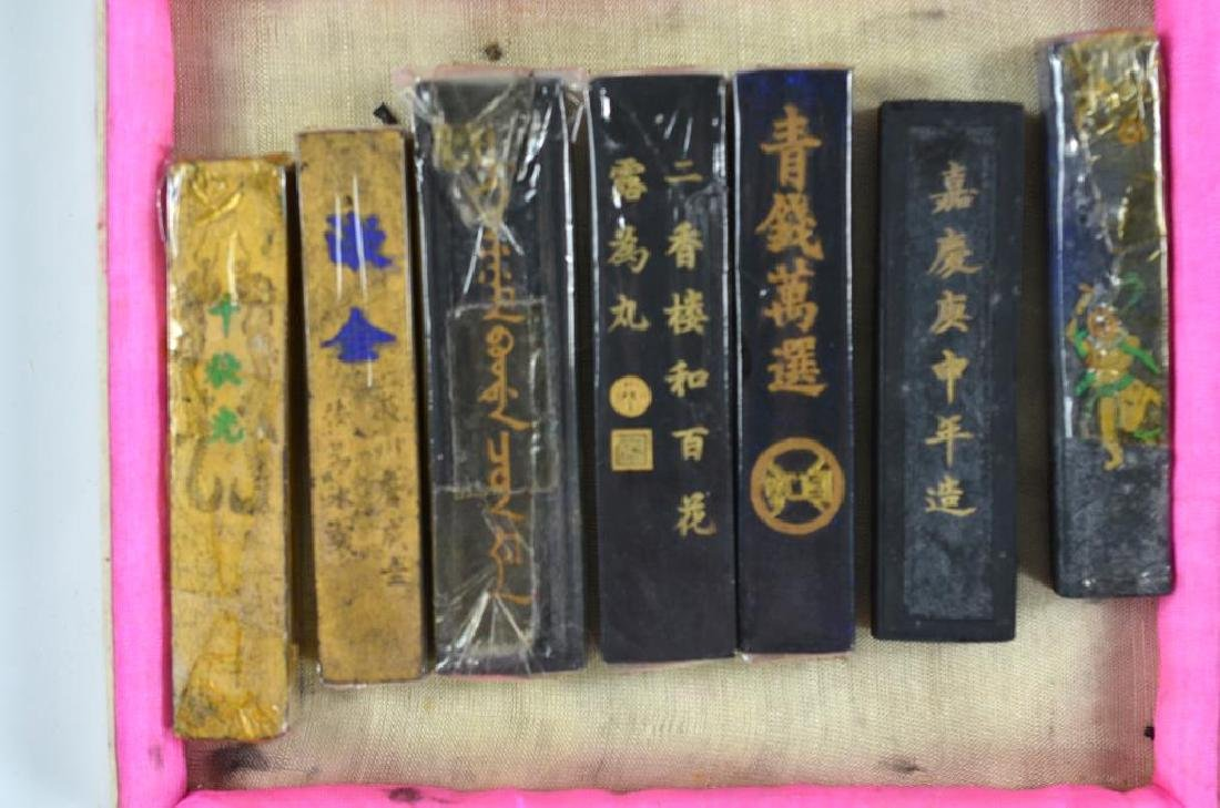 TWO CASES OF OLD CHINESE HUIZHOU INK STICKS - 3