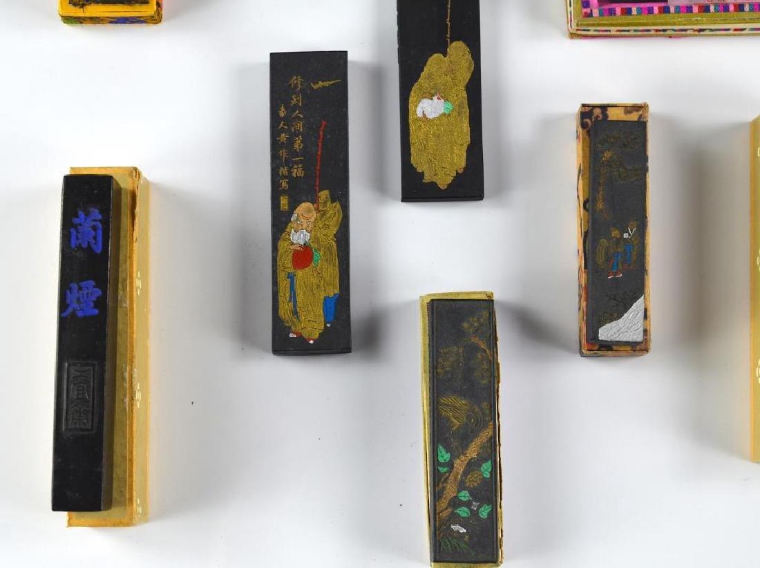 THIRTEEN CHINESE HUIZHOU INK STICKS - 4