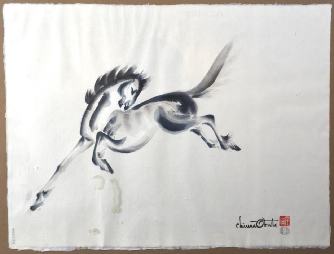 TWO CHIURA OBATA (1885-1975) HORSE PRINTS - 2