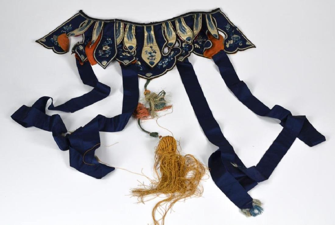 CHINESE SILK EMBROIDERED SKIRT BELT