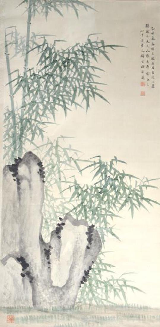 MEI ZHENYING BAMBOO AND ROCK PAINTING