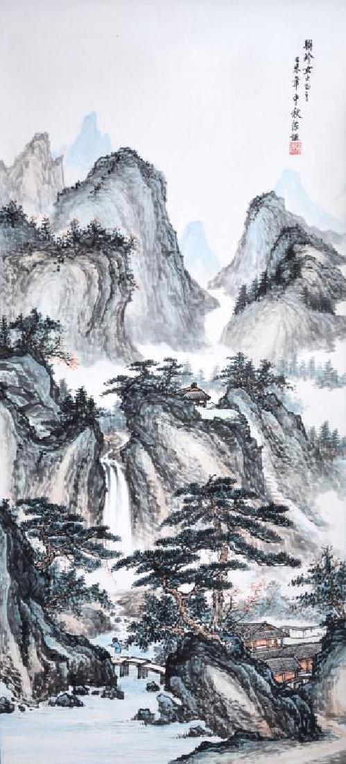 CHEN QIAN MOUNTAIN LANDSCAPE PAINTING