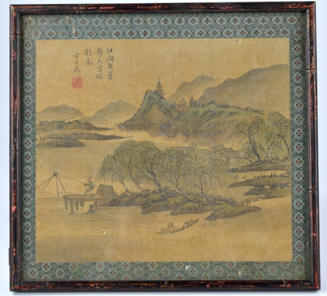 FANG SHIZHE (1692-1751) TWO LANDSCAPE PAINTINGS