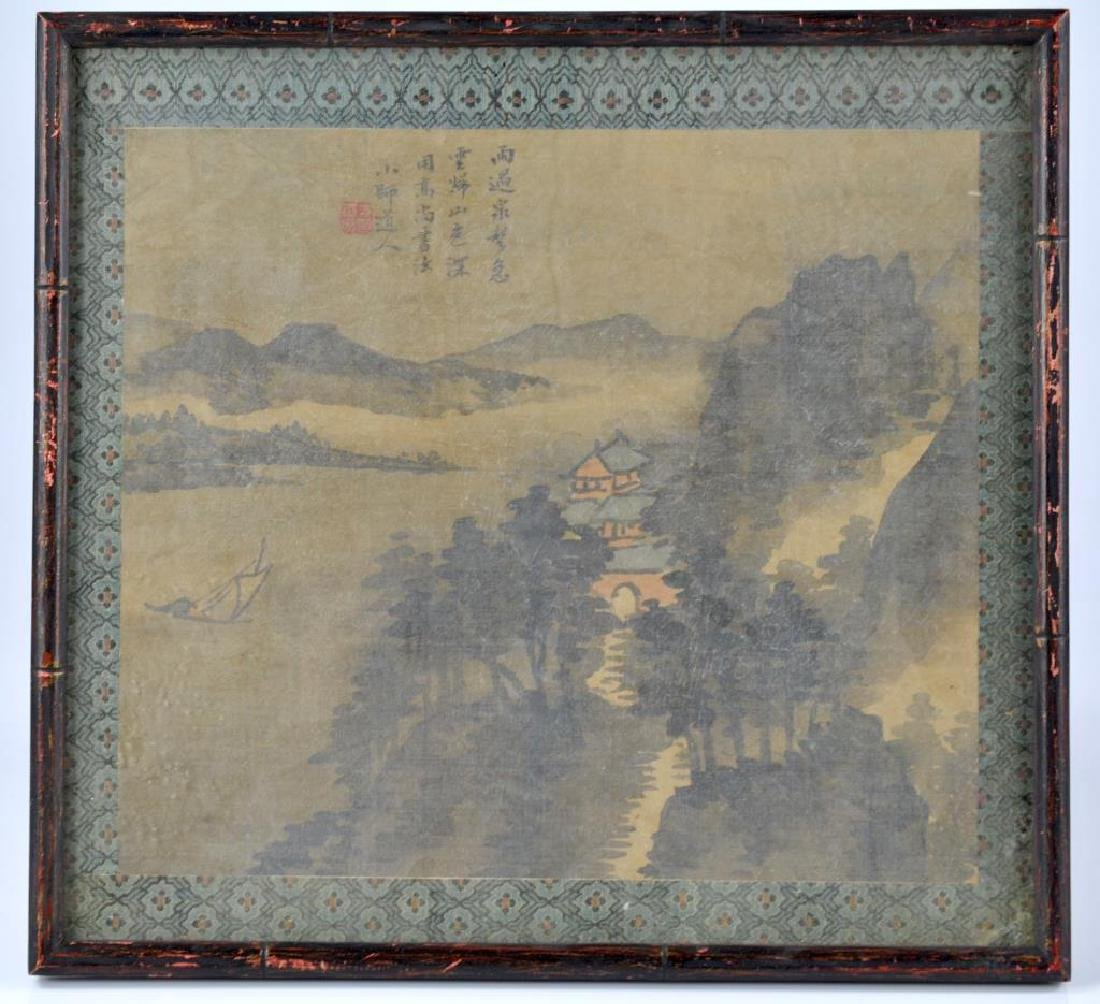 FANG SHIZHE (1692-1751) TWO LANDSCAPE PAINTINGS - 2