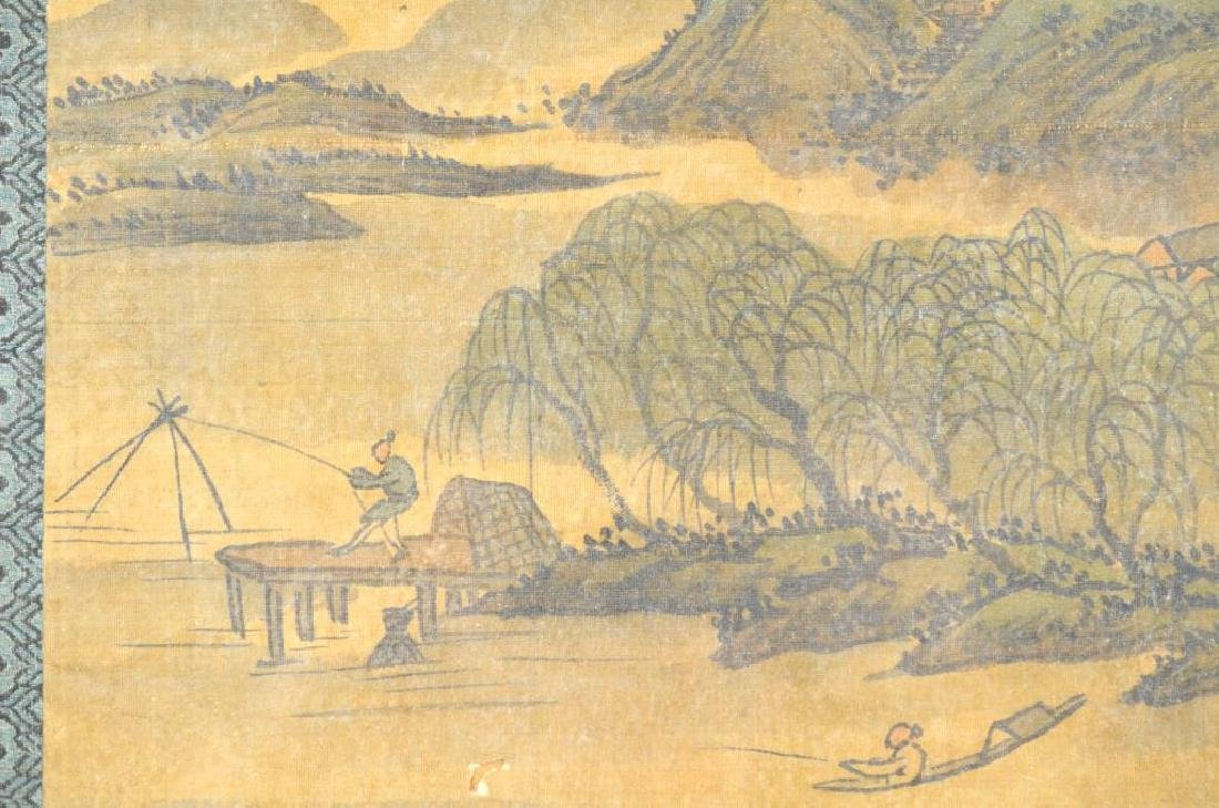 FANG SHIZHE (1692-1751) TWO LANDSCAPE PAINTINGS - 4