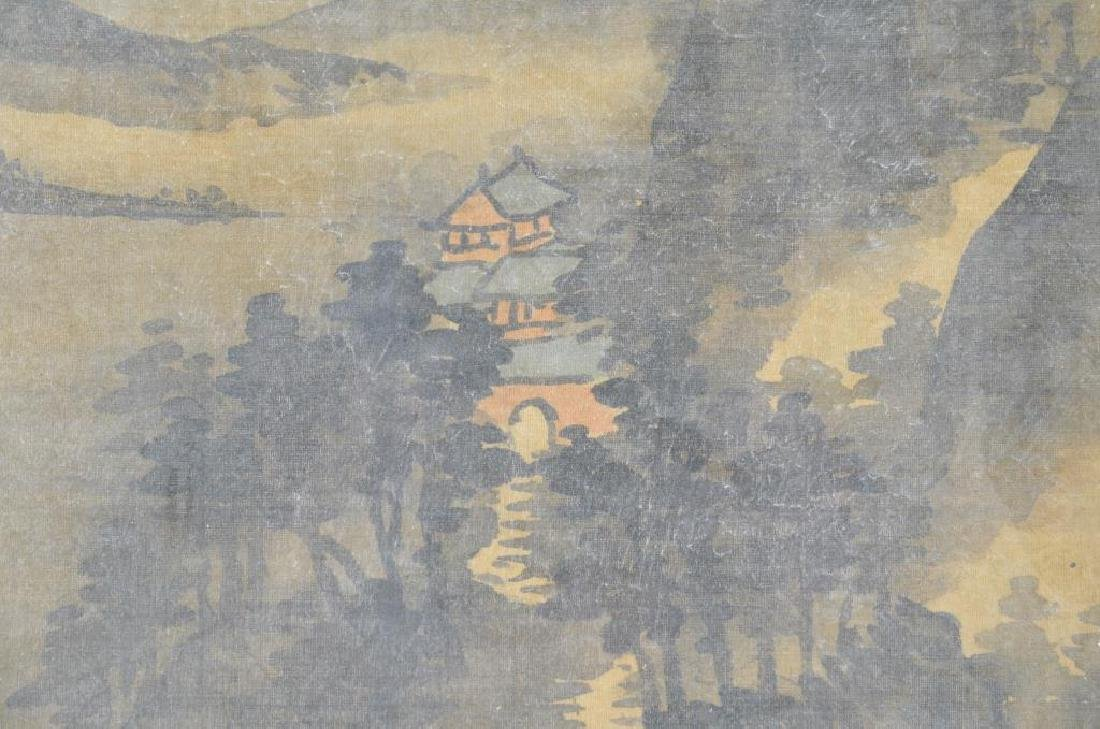 FANG SHIZHE (1692-1751) TWO LANDSCAPE PAINTINGS - 7